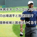 全米男子オープンゴルフ2018の出場選手と放送日は?優勝候補と賞金はいくら?